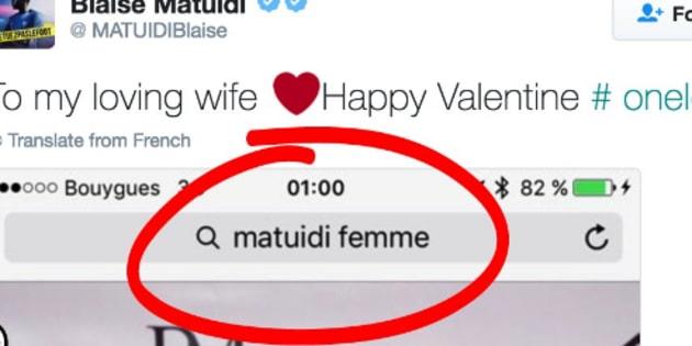 Le tweet de Blaise Matuidi pour fêter une joyeuse Saint-Valentin à sa compagne Isabelle