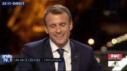 Macron est malgré tout parvenu à parler de
