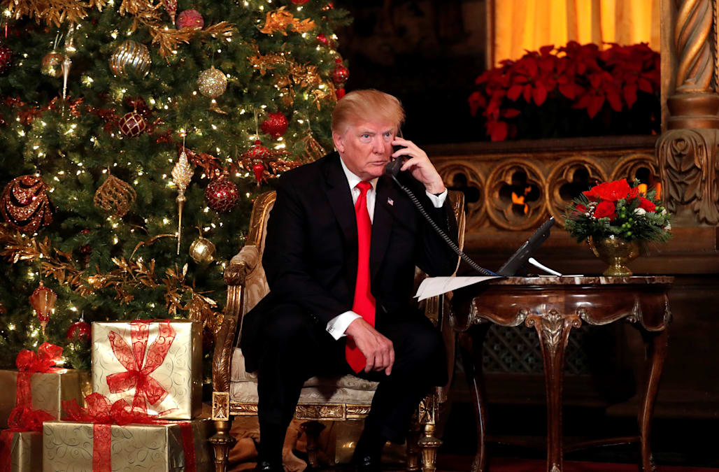 trump says hes proud to lead the charge against the assault on merry christmas phrase
