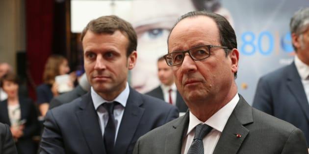 François Hollande et Emmanuel Macron, alors ministre de l'Economie