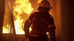 Incendie majeur sur la rue