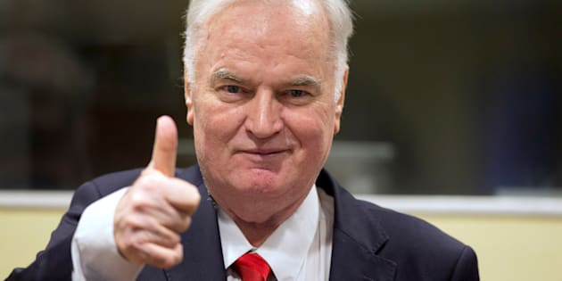 Ex-Bosnian Serb wartime general Ratko Mladic appears in court at the International Criminal Tribunal for the former Yugoslavia (ICTY) in the Hague.