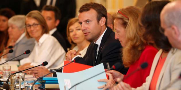 Le premier conseil des ministres à l'Elysée après les vacances d'été, le 28 août 2017.
