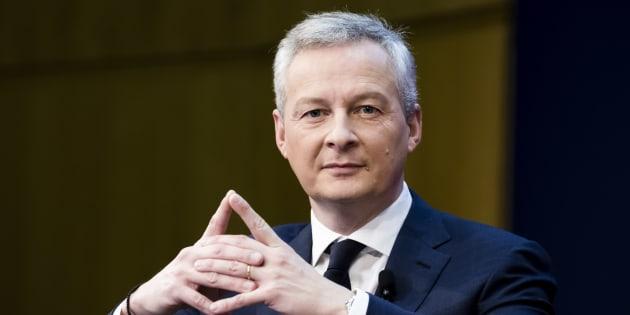 Le ministre de l'économie Bruno Le Maire, le 15 février 2018 à Paris pour la conférence