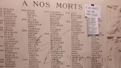 Indignation après la profanation du monument aux morts de Normale