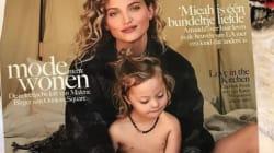 Cette mannequin pose en Une de Vogue avec son fils atteint de