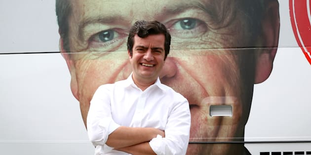 Senator Sam Dastyari Labor leader Bill Shorten's ever watchful face.