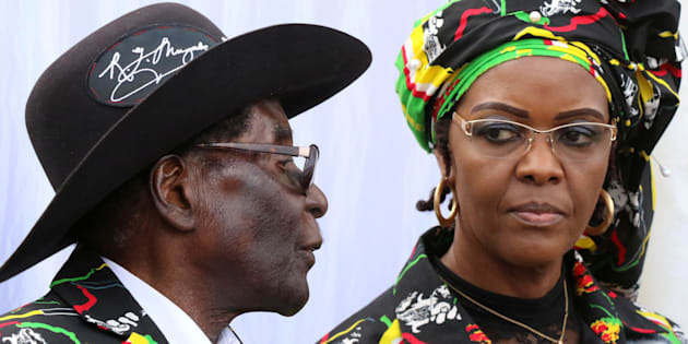 President Robert Mugabe and his wife Grace attend a rally   in Chinhoyi, Zimbabwe,  on July 29 this year.  Photo: REUTERS/Philimon Bulawayo