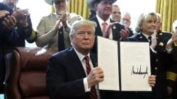 Trump utilise son 1er veto pour débloquer le financement d'urgence du mur avec le