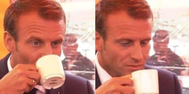 Tout le monde compatit en voyant la réaction de Macron au goût du café finlandais