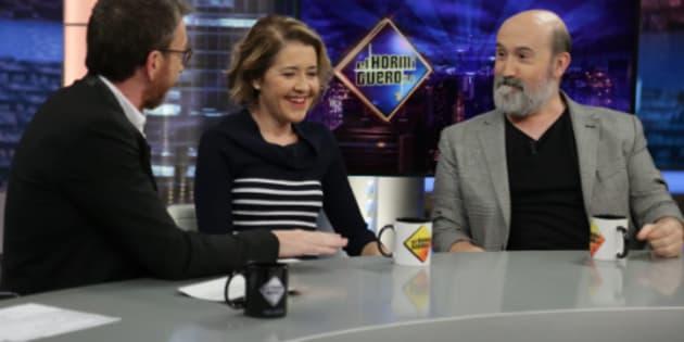 Pablo Motos, María Pujalte y Javier Cámara en Antena 3.