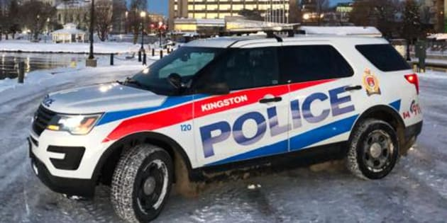 A Kingston Police cruiser is seen in this undated photo. Police say a 46-year-old man faces charges after he allegedly grabbed a teen by the throat.