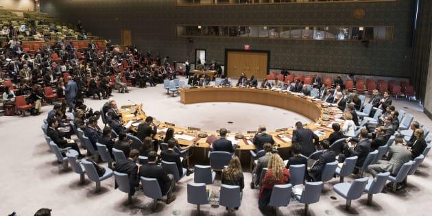 Imagen de la reunión de hoy del Consejo de Seguridad de la ONU.