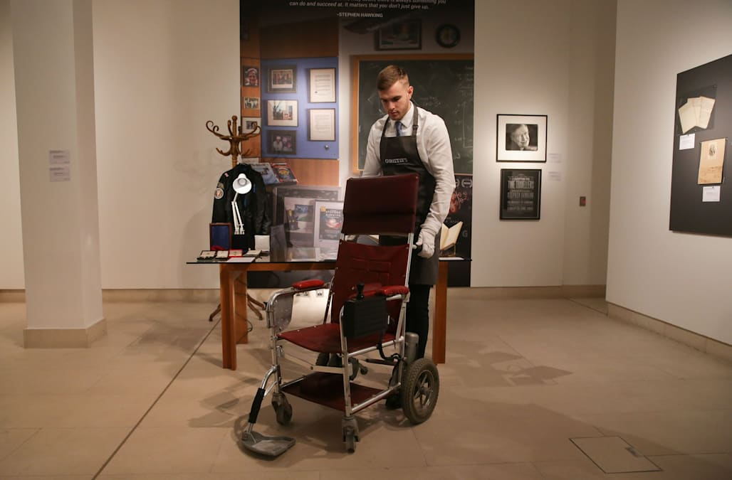 Image result for Stephen Hawking's thesis, Wheelchair Heading for Auction