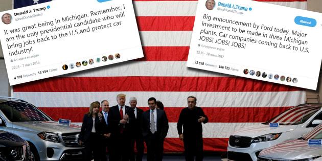 Ces tweets sur l'emploi dans l'automobile que Trump va regretter avec l'ouverture du Salon de Détroit.