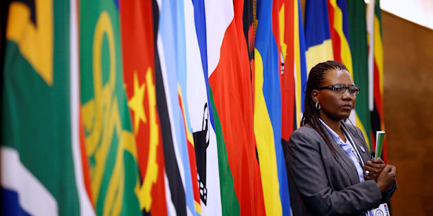 A delegate attends the 37th Ordinary SADC Summit of Heads of State and Government in Pretoria. August 19, 2017.