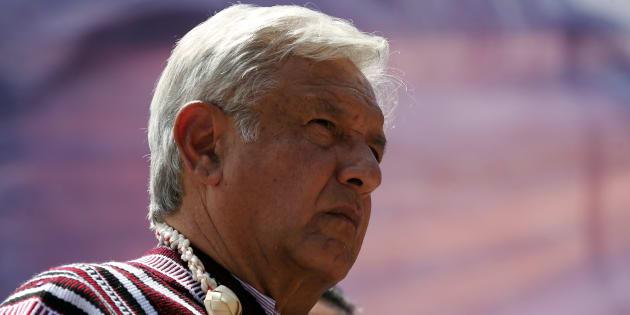 Andrés Manuel López Obrador durante un mitin en Tlapa de Comonfort, Guerrero.
