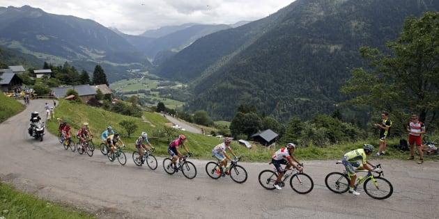 Lors de l'étape du Tour de France Albertville - Saint-Gervais Mont Blanc le 22 juillet 2016.