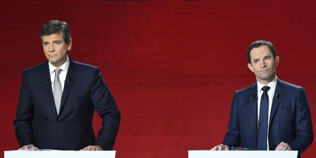Arnaud Montebourg et Benoît Hamon sont en confrontation directe. Leurs programmes sont pourtant loin d'être identiques.