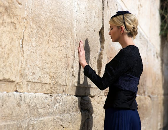 Ivanka Trump appeared to shed tear at Western Wall