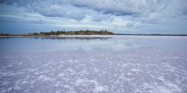 Salt Lake, Pink Lakes, Murray Sunset National Park, Victoria, VIC, Australia