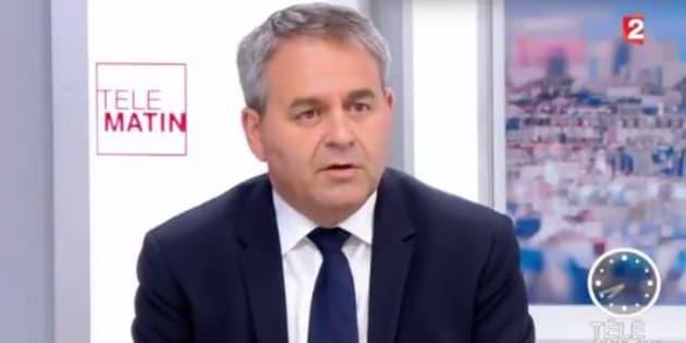 """Pour Xavier Bertrand, Macron doit s'exprimer sur le """"problème Bayrou""""."""