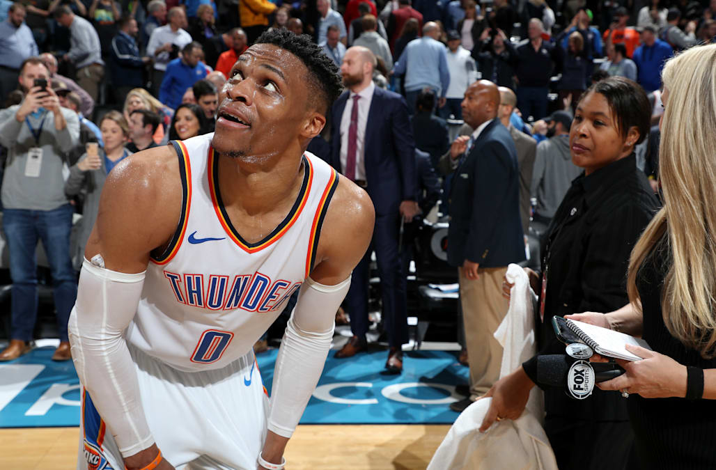 new concept 79eda b1da6 Russell Westbrook breaks Wilt Chamberlain s 51-year-old record with 10  straight triple-doubles