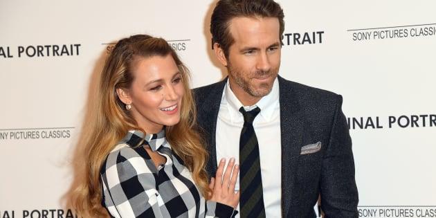 """Blake Lively et Ryan Reynolds se prêtent au jeu du flirt à l'avant-première de """"Final Portrait"""" le 22 mars 2018, àNew York City."""