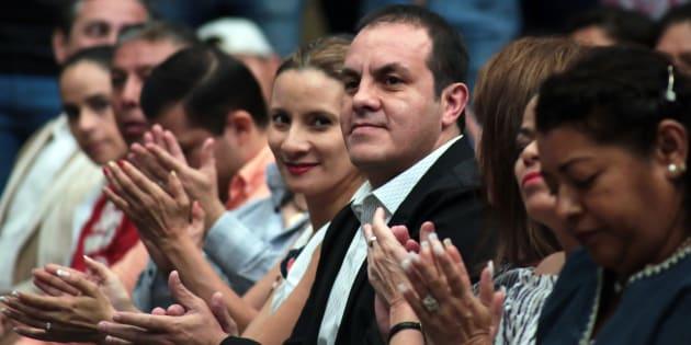 """Cuauhtémoc Blanco, presidente municipal de Cuernavaca, en el """"1er Encuentro de Deportistas Destacados 2018"""", en Cuernavaca, Morelos, el 13 de marzo de 2018."""