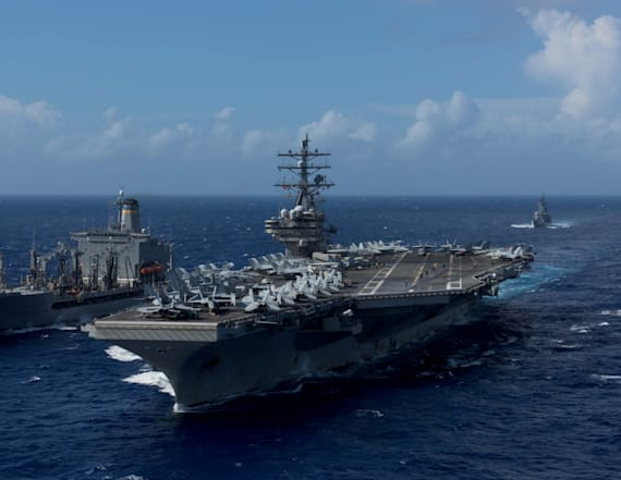 US warship patrols in Korean waters as show of force