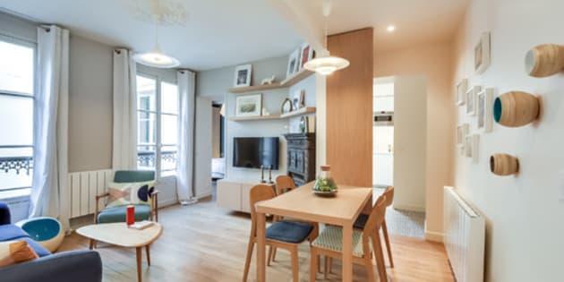 Cet appartement de 53 m² a été parfaitement réorganisé et rénové pour une mère et sa fille