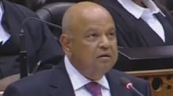 Pravin Gordhan's Face When Mbuyiseni Ndlozi Interrupted His Speech Is