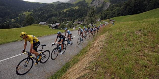 Lors de la 20e étape du Tour de France 2016 entre Megève et Morzine le 23 juillet.
