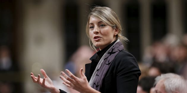 Canada's Heritage Minister Melanie Joly speaks in the House of Commons on Parliament Hill on Dec. 9, 2015.