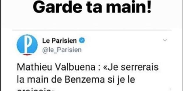 Karim Benzema refuse sèchement la main tendue de Mathieu Valbuena sur Instagram