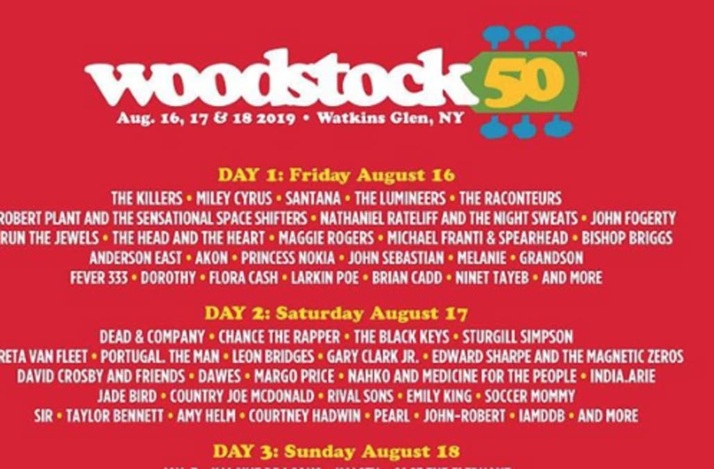 Woodstock 50 officially off - AOL Entertainment