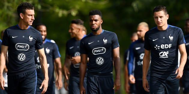 L'équipe de France à Clairefontaine le 28 août 2017.