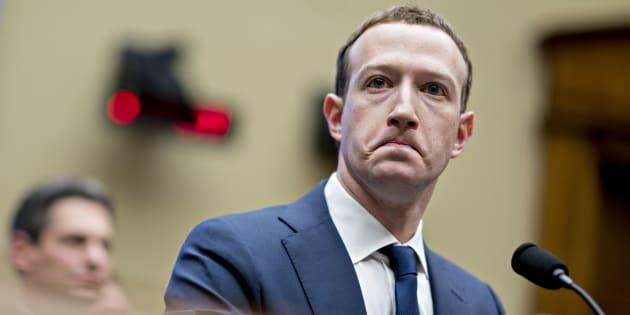 Mark Zuckerberg à Washington le 11 avril 2018.