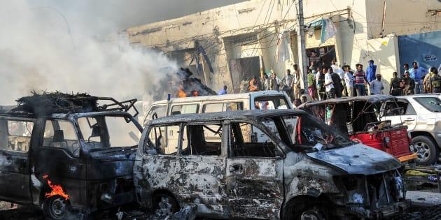 Des centaines de morts dans un attentat à Mogadiscio, un des pires de l'histoire de la Somalie
