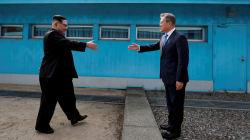 VIDEO: El momento histórico cuando Kim Jong Un cruza la frontera hacia Corea del