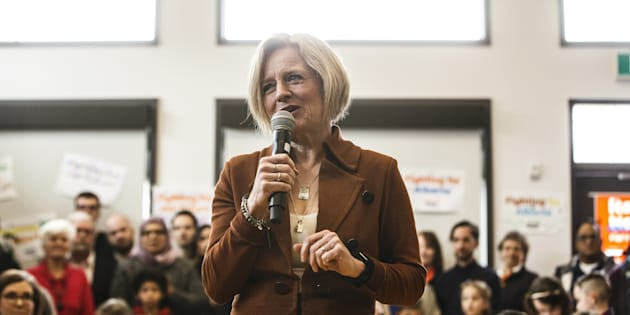 Alberta NDP Leader Rachel Notley makes a stop at a community centre while campaigning for the upcoming election, in Edmonton Alta. on March 31, 2019.