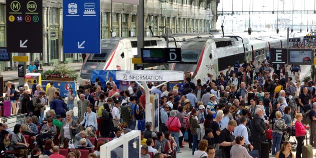 Grève à la Gare de Lyon en juin 2016.
