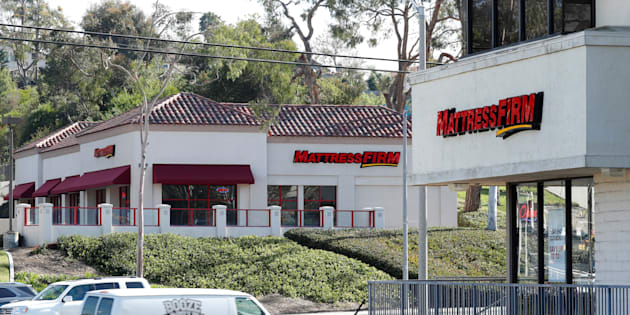 Two Mattress Firm stores, a brand owned by Steinhoff, are shown on either side of the street in Encinitas, California, U.S., January 25, 2018.
