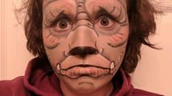Cette femme a passé tout le mois d'octobre à se maquiller en monstre sur