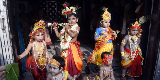Janmashtami is being celebrated across India and other parts of the world today. (Photo by Saikat Paul/Pacific Press/LightRocket via Getty Images)