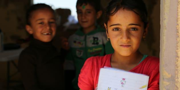 """Notre rêve va devenir réalité, ces """"enfants de la guerre"""" s'apprêtent à faire leur rentrée scolaire."""