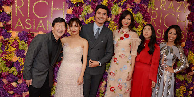 Some of the 'Crazy Rich Asians' cast attend a screening of the film in London, U.K. on Sept. 4, 2018.
