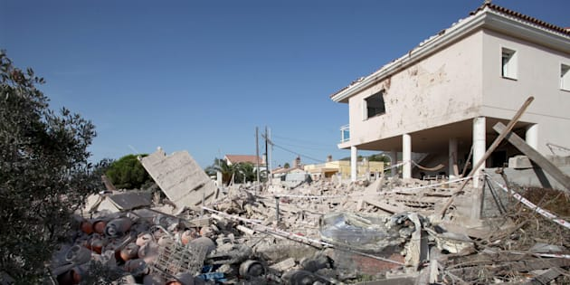 Estado en el que quedó la casa de Alcanar (Tarragona) tras la explosión del material que guardaban los terroristas de Ripoll.