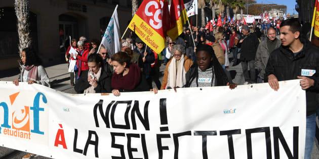Lycées et étudiants manifestent contre la sélection à la fac et le nouveau bac