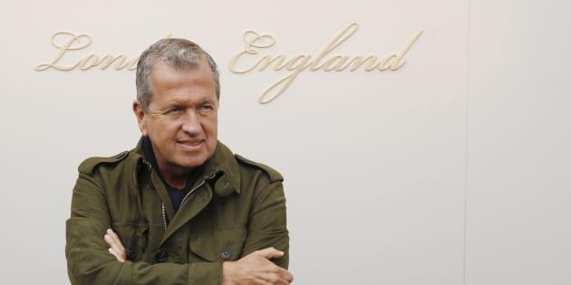 Mario Testino à Londres le 22 février 2016.